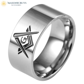 Minimal Design Masonic Ring For Everyday Wear
