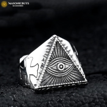 Buy Triangle Eye of Providence Masonic Ring online at affordale price with FREE shipping