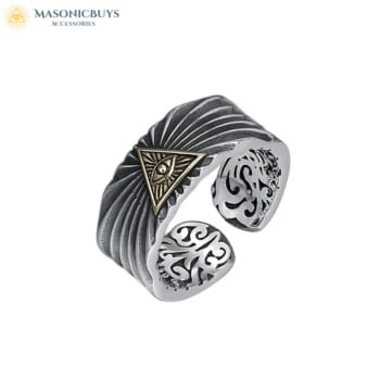 925 Sterling Silver Adjustable Masonic Ring