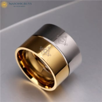 Classic Wedding Ring With Masonic Symbol