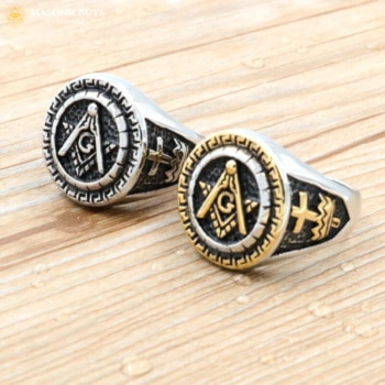 Egyptian Style Masonic Ring