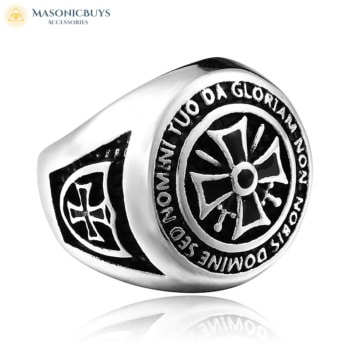 Heavy Stainless Steel Knights Templar Ring