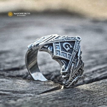 Buy Unique High Quality Stainless Steel Masonic Ring online at affordale price with FREE shipping