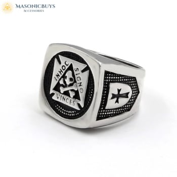Knights Templar Ring With Masonic Symbol