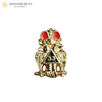 Buy 10 Masonic Scottish Rite 33rd Degree Lapel Pin Badges online at affordale price with FREE shipping
