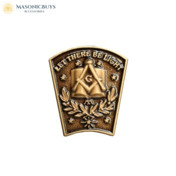10 Masonic 'Let There Be Light' Lapel Pin Badges