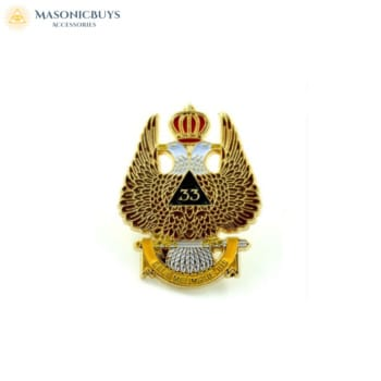 10 Scottish Rite 33rd Degree Lapel Pin Badges