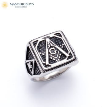 Masonic Ring With Heart Symbol