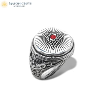 Buy Masonic Ring With Glass Dome No.6 online at affordale price with FREE shipping