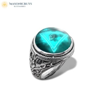 Buy Masonic Ring With Glass Dome No.5 online at affordale price with FREE shipping