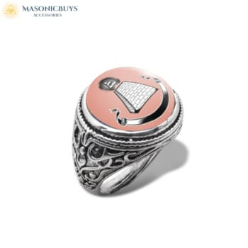 Buy Masonic Ring With Glass Dome No.4 online at affordale price with FREE shipping