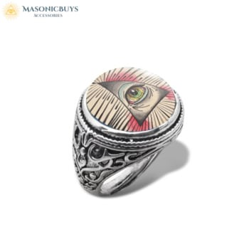 Masonic Ring With Glass Dome No.1