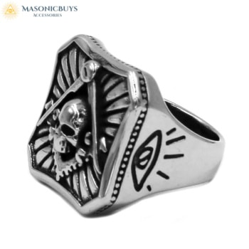 Buy Masonic Ring With Skull online at affordale price with FREE shipping