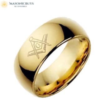 Buy Simple Silver or Gold Masonic Ring online at affordale price with FREE shipping