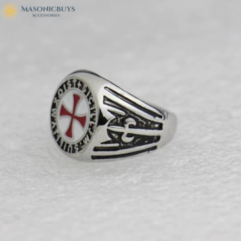 Stainless Steel Knights Templar Cross Ring