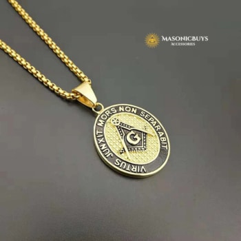 Buy Double Sided Masonic Pendant Necklace online at affordale price with FREE shipping