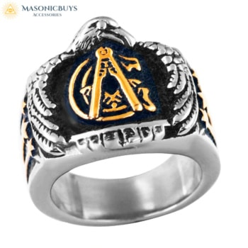 Masonic Ring With Eagle Head