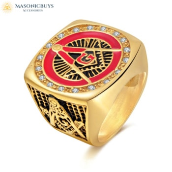 Buy Charming Vintage Masonic Ring online at affordale price with FREE shipping