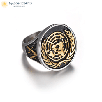 Buy United Nations Masonic Ring online at affordale price with FREE shipping