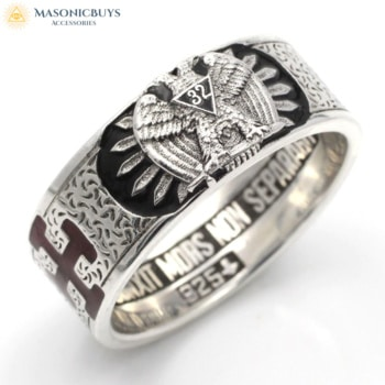 Buy 925 Sterling Silver Scottish Rite 32nd Degree Ring online at affordale price with FREE shipping