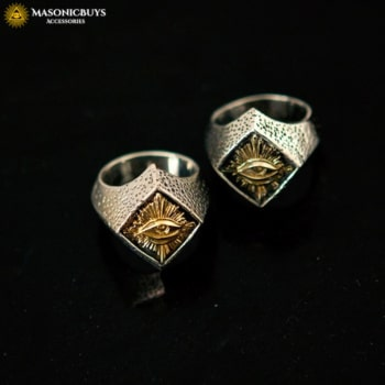 Buy Vintage Masonic Ring With God's Eye online at affordale price with FREE shipping
