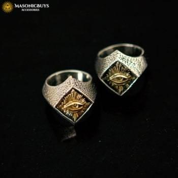 Vintage Masonic Ring With God's Eye