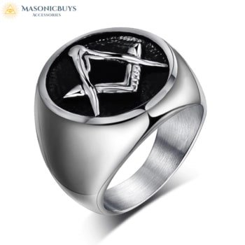 Buy Simple Masonic Ring With Square And Compasses online at affordale price with FREE shipping