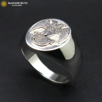 Buy 925 Sterling Silver Freemason Scottish Rite 33rd Degree Ring online at affordale price with FREE shipping