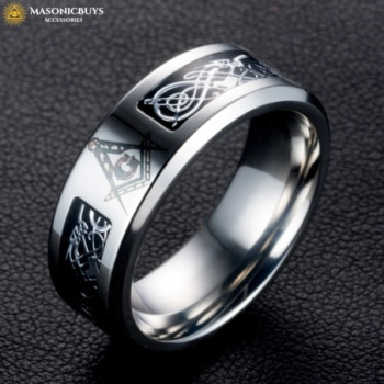 Buy Trendy Masonic Ring With Dragon Symbolic online at affordale price with FREE shipping