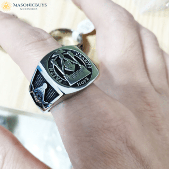 "Buy Masonic Ring ""Faith, Hope and Charity"" online at affordale price with FREE shipping"