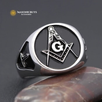 Buy Classic High Quality Silver Masonic Ring online at affordale price with FREE shipping
