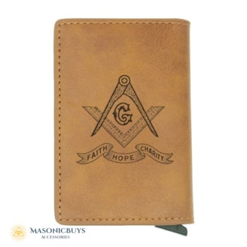 Buy Leather masonic wallet & credit card holder online at affordale price with FREE shipping